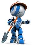 Figurine carrying shovel Royalty Free Stock Image