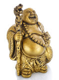 Figurine Cheerful Hotei on a white Stock Images