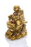 Figurine Cheerful Hotei on a white Royalty Free Stock Photography