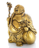 Figurine Cheerful Hotei on a white Stock Photos