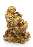 Figurine Cheerful Hotei on a white Royalty Free Stock Image