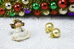 Figurine d'ange de décoration de Noël Images libres de droits