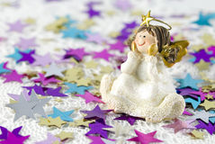 Figurine d'ange de décoration de Noël Images stock
