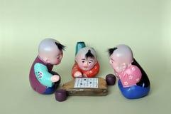 Figurine d'argile d'échecs de pièce Photo libre de droits