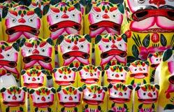 Figurine d'argile de tigre Photo stock