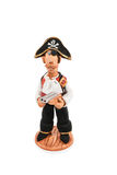 Figurine d'argile d'un pirate photographie stock