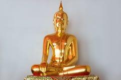 Figurine d'or de Bouddha Photo libre de droits