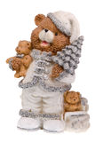Figurine d'ours de Noël Photos stock