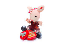 Figurine d'une souris Photos stock