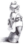 Figurine da menina japonesa Imagens de Stock Royalty Free
