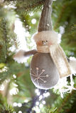Figurine de bonhomme de neige Photographie stock