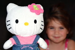 Figurine de Hello Kitty Photo libre de droits