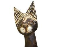 Figurine de madeira de um gato Foto de Stock Royalty Free