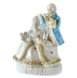 Figurine de porcelaine le duo musical Photos stock