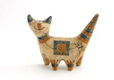 Figurine de um gato Fotos de Stock Royalty Free