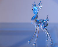 Figurine of a deer made of glass Royalty Free Stock Photos