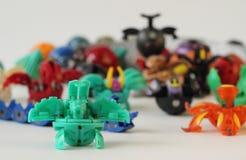 Figurine dei mostri del gioco di Bakugan fotografia stock libera da diritti