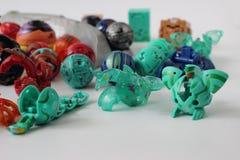 Figurine dei mostri del gioco di Bakugan fotografia stock