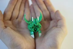 Figurine dei mostri del gioco di Bakugan immagini stock