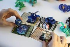 Figurine dei mostri del gioco di Bakugan immagine stock
