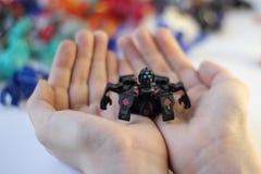 Figurine dei mostri del gioco di Bakugan fotografie stock