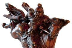 Figurine del cavaliere dal Vietnam o dalla Cina Fotografie Stock Libere da Diritti