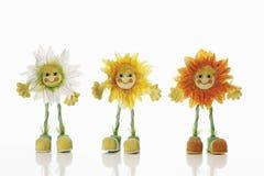 Figurine del fiore di Sun Fotografie Stock Libere da Diritti