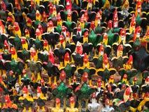Figurine del gallo in Tailandia Fotografia Stock Libera da Diritti