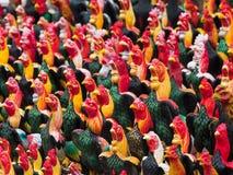 Figurine del gallo in Tailandia Immagine Stock Libera da Diritti