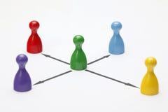 Figurine del gioco su fondo bianco Fotografia Stock