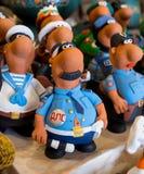 Figurine del ricordo dell'argilla che descrivono le varie professioni Fotografie Stock Libere da Diritti