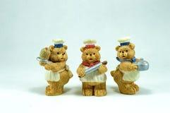 Figurine dell'argilla pochi orsi fatti a mano Fotografia Stock