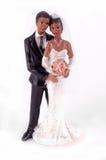 Figurine della torta di cerimonia nuziale dell'afroamericano Fotografia Stock Libera da Diritti
