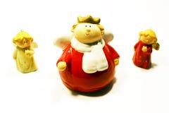 Figurine di angelo della ceramica Fotografia Stock