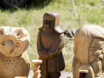 Figurine di legno Fotografie Stock