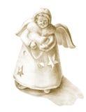 Figurine disegnato a mano di angelo Fotografia Stock Libera da Diritti