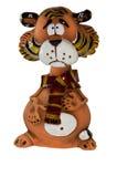 Figurine divertente della tigre Fotografia Stock Libera da Diritti