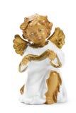Figurine do anjo do Natal com livro Fotografia de Stock Royalty Free