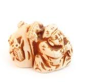 Figurine do shui do feng do netsuke de Daikoku Imagem de Stock Royalty Free