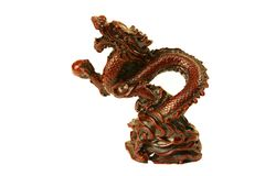 Figurine of a dragon. Royalty Free Stock Image