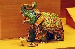 Figurine of an elephant on a shop window Royalty Free Stock Photo