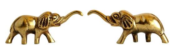 Figurine en bronze d'éléphant images stock