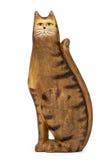 Figurine en céramique d'un chat, d'isolement sur le fond blanc Image libre de droits