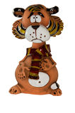 Figurine engraçado do tigre Foto de Stock Royalty Free