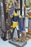 Egyptian souvenirs on sale in shop shelves. royalty free stock image