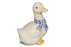 Figurine goose. Isolated on a white background Royalty Free Stock Photography