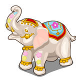 Figurine of Indian white elephant. Vector isolated Royalty Free Stock Image