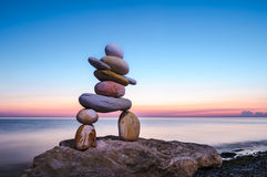 Figurine of Inukshuk of pebbles Royalty Free Stock Images