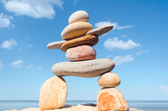Figurine of Inukshuk Royalty Free Stock Images