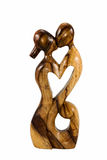Figurine kiss people in the form of heart Royalty Free Stock Photos
